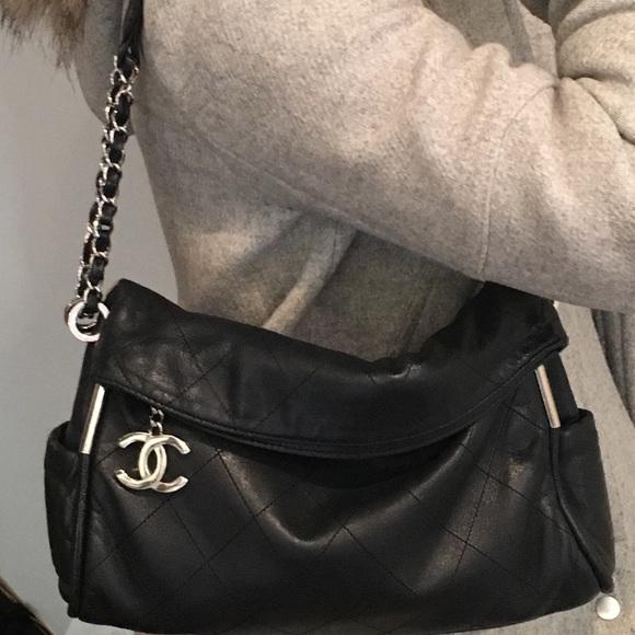 CHANEL Bags   Black Lambskin Handbag   Poshmark 048e7215ba